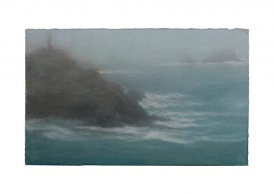 Shrouded, Cape Cornwall No.2, 27cm x 35cm, Pastel on Paper.