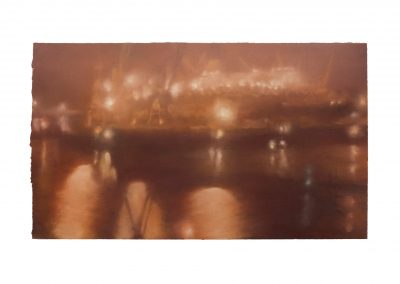 Electric Nocturne No.4, 39cm x 68cm, Pastel on Paper.