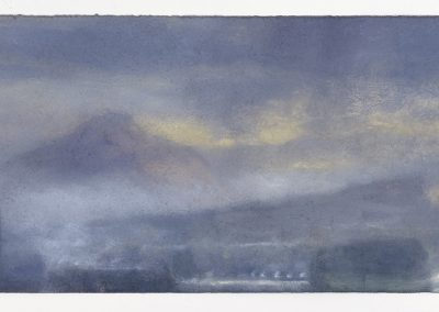 Low Cloud with a Hint of Rain, Kitchen Window Series No 21, 23.5cm x 70cm, Pastel on Paper,  2016.