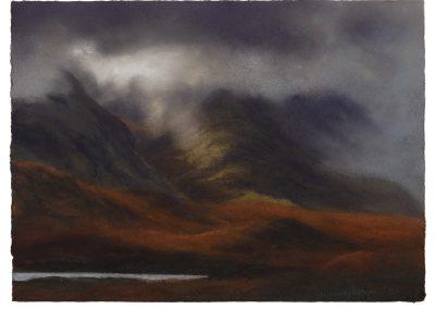 Shifting Light a Hike Through Rannock Moor 9 Part 10), 27cm x 37cm, Pastel on Paper, 2017.