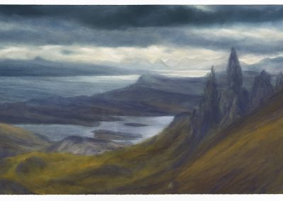 From The Storr to The Cuillin, 80cm x125cm, Pastel on Paper.