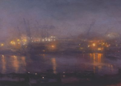 Nocturne with A Polluted Light (PartIV), 78.5cm x 168cm, Pastel on Paper.