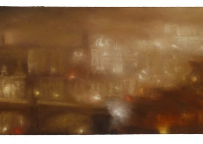 Nocturne with Polluted Light (Part 12), 40.5cm x 81.5cm, Pastel on paper, 2107.