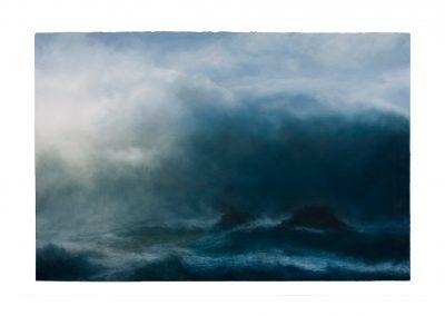 Surge, 102cm x 168cm, Pastel on Paper.
