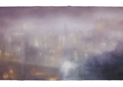 Saturated, 68cm x 168cm, Pastel on Paper.