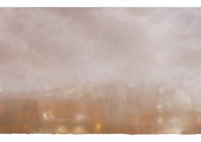 Veil, 87.5cm x 152cm, Pastel on Paper.