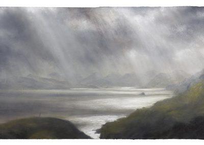 Windswept, 89.5 x 155 cm, Pastel on Paper, 2018.