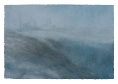 Snow Storm, 24cm x 36cm, Pastel on Paper.