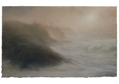 Glow, Pendeen Cliff No.2, 24cm x 36cm, Pastel on Paper.