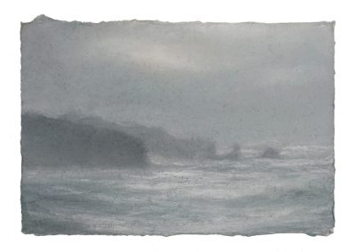 Near Sennen, 12,5cm x 18cm, Pastel on Paper.