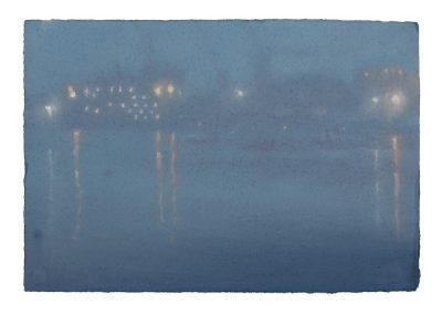 Still, Nocturne No.3, 24cm x 36cm, Pastel on Paper.