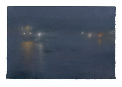 Darkness, Nocturne No.4, 24cm x 36cm, Pastel on Paper.