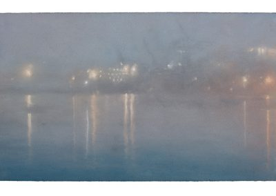 Illuminate, Nocturne No.6, 39cm x 68cm, Pastel on Paper.