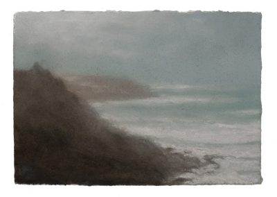 Clifftops, Gwenver, 12,5cm x 18cm, Pastel on Paper.