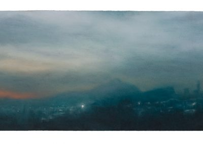(21.40) 21.8.09, 28cm x 55cm, Pastel on Paper, 2009.