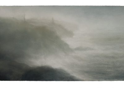 Mist and Spray, 39cm x 68cm, Pastel on Paper.