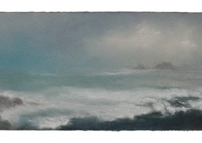 Evening, Priests Cove, 19,5cm x 51cm, Pastel on Paper.