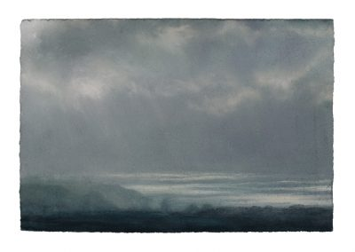 (14;38) 28.1.09 From Tom Thumb Rock, 24cm x 36cm, Pastel on Paper.