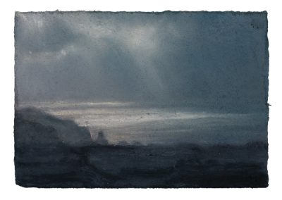 (14;50) 28.1.09 From Tom Thumb Rock, 12,5cm x 18cm, Pastel on Paper.