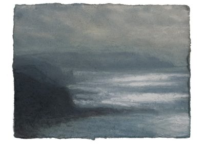 Viewpoint, 12.5cm x 18cm, Pastel on Paper.