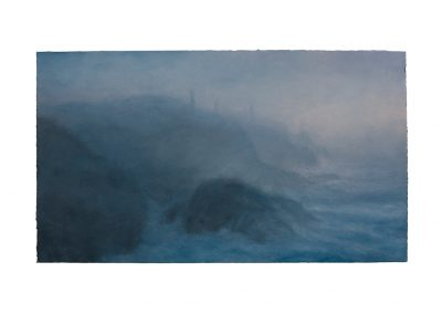 Twilight, Pendeen Cliff, 39cm x 68cm Pastel on Paper.
