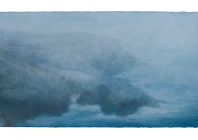 February Snow, 29cm x 70cm, Pastel on Paper.
