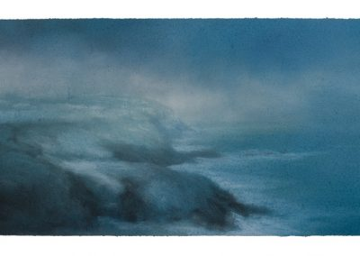 After the Snow, Pendeen, 29cm x 70cm, Pastel on Paper.