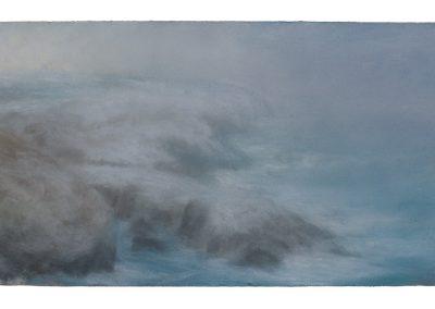 Snowfall, 39cm x 68cm, Pastel on Paper.
