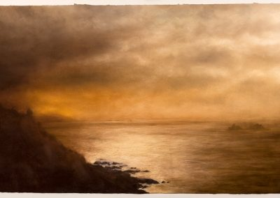 Cape Cornwall, The Brisons and Long Ships, 104cm x 168cm, Pastel on Paper.