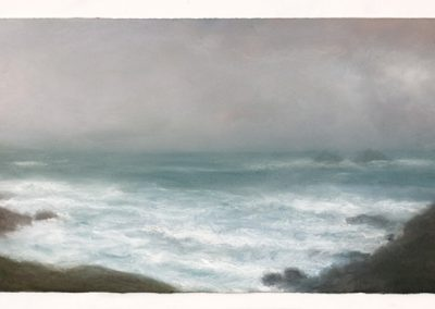 Cool evening, Cape Cornwall, 40cm x 107cm, Pastel on Paper.