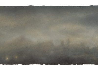 Dusk, 18.5cm x 52cm, Pastel on Paper, 2009.