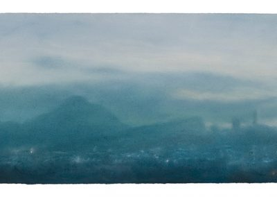 Early Evening, 28cm x 55cm, Pastel on Paper, 2009.
