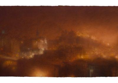 Electric Light, 82cm x 168cm, Pastel on Paper, 2009.