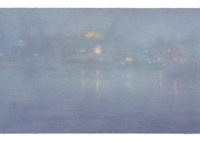 Fish Strand Quay, Nocturne No,11, 45.5cm x 107cm, Pastel on Paper, 2009.