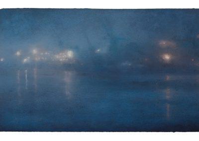 Glimpses Nocturne No.12, 39cm x 68cm, Pastel on Paper, 2009.