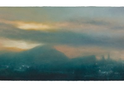 Glistening, 28cm x 55cm. Pastel on Paper 2009.