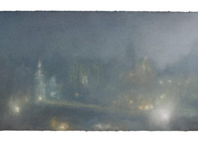 Illume, 18.5cm x 52cm. Pastel on Paper 2009.
