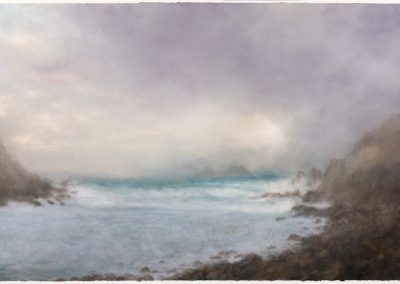 January light, Cape Cornwall, 100cm x 168cm, Pastel on Paper.