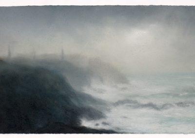 Last light, Pendeen, 40cm x 66cm, Pastel on Paper.