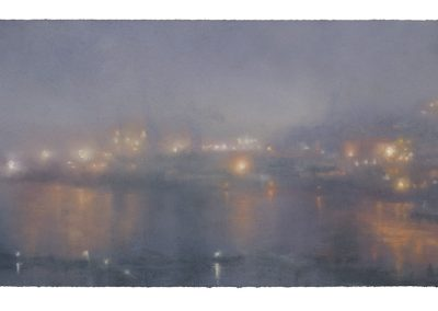 Luminous Nocturne. No.8, 54cm x 107cm. Pastel on Paper 2009.
