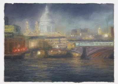Glimpse, St Paul's From London Bridge, 39cm x 53cm, Pastel on Paper.