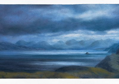 Impending Storm, The Sound of Raasay, 51cm x 124.5cm, Pastel on Paper.