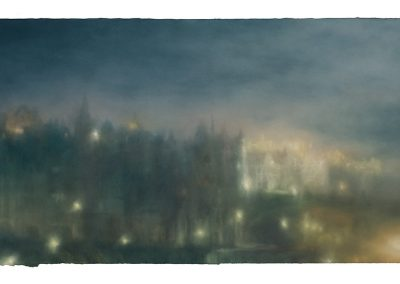 Nightfall, 82cm x 168cm. Pastel on Paper 2009.