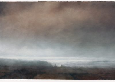 Reflections, Long Ships (1545) 21.1.07, 90cm x 155cm, Pastel on Paper.