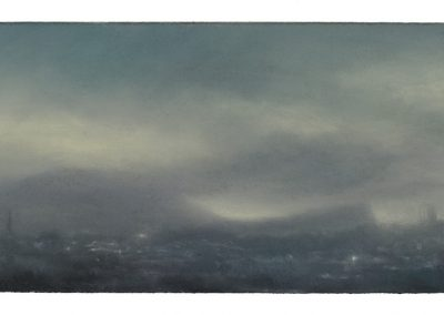 Smothered, 28cm x 55cm. Pastel on Paper.