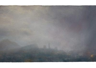 Squall, 28cm x 55cm. Pastel on Paper 2009.
