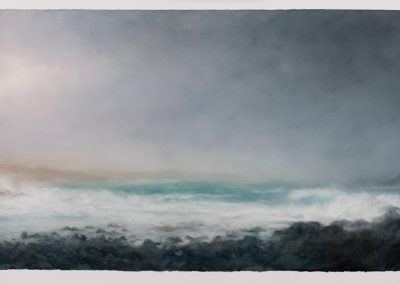 Strange light, Cape Cornwall, 76cm x 155cm, Pastel on Paper.