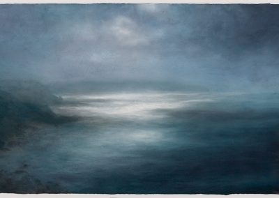 Towards the Peal, 79cm x 155cm, Pastel on Paper.